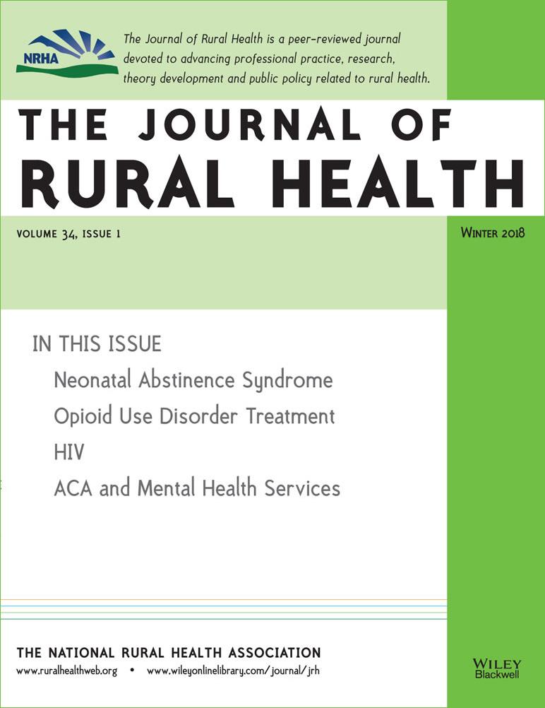 J Rural Health cover