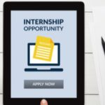 "Tablet that reads ""Internship opportunity"""