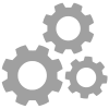 icon of three gears working together