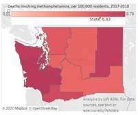 Map showing deaths from meth in WA state